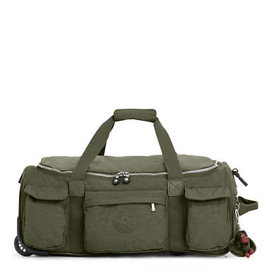 Discover Small Carry-On Rolling Luggage Duffel - Jaded Green