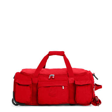 Discover Small Carry-On Rolling Luggage Duffel - Cherry Tonal Zipper