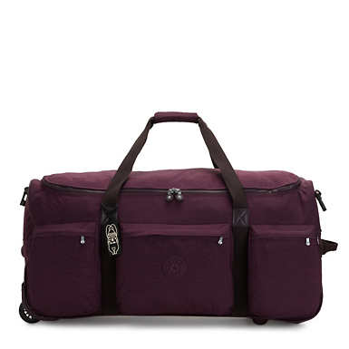 Discover Large Rolling Luggage Duffel - Dark Plum
