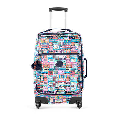 Darcey Small Printed Carry-On Rolling Luggage - Hello Weekend