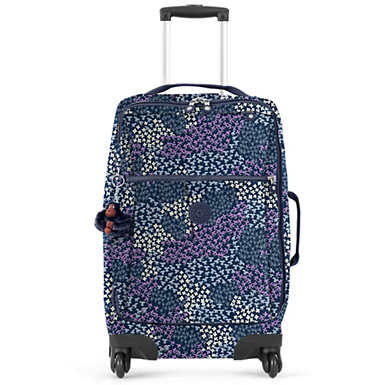 Darcey Small Printed Carry-On Rolling Luggage - Dotted Bouquet