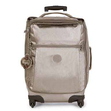 Darcey Large Metallic Rolling Luggage - Metallic Pewter