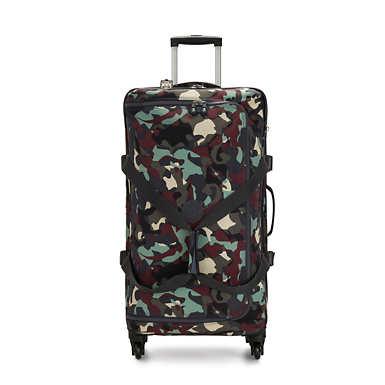 Cyrah Large Printed Rolling Luggage - Camo
