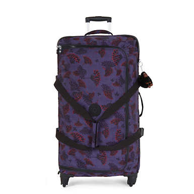 Cyrah Large Printed Rolling Luggage - Floral Night