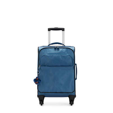 Parker Small Metallic Rolling Luggage - Oceanic Blue Metallic