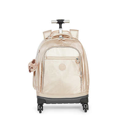 Echo II Metallic Rolling Kids Backpack - Sparkly Gold
