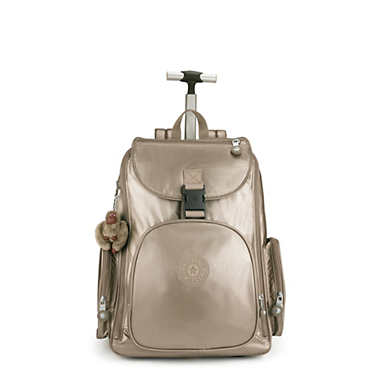Alcatraz II Metallic Large Rolling Laptop Backpack - Metallic Pewter