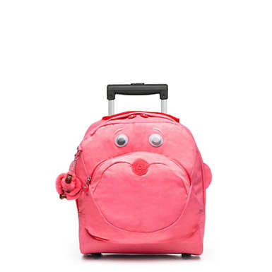 Big Wheely Kids Rolling Bag - Fiesta Pink