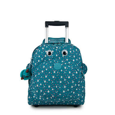Big Wheely Printed Kids Rolling Backpack - Cool Star Girl