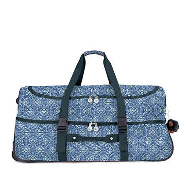 Teagan Large Printed Rolling Luggage - Frosted Feels