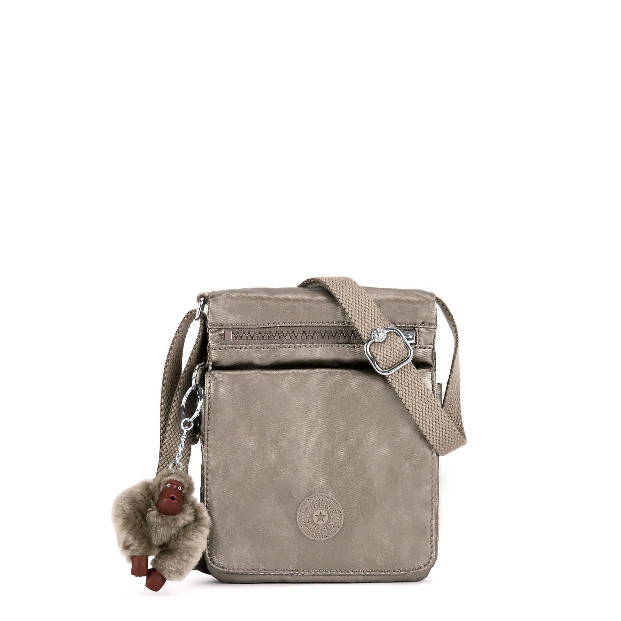 El Dorado Metallic Crossbody Bag Pewter Large