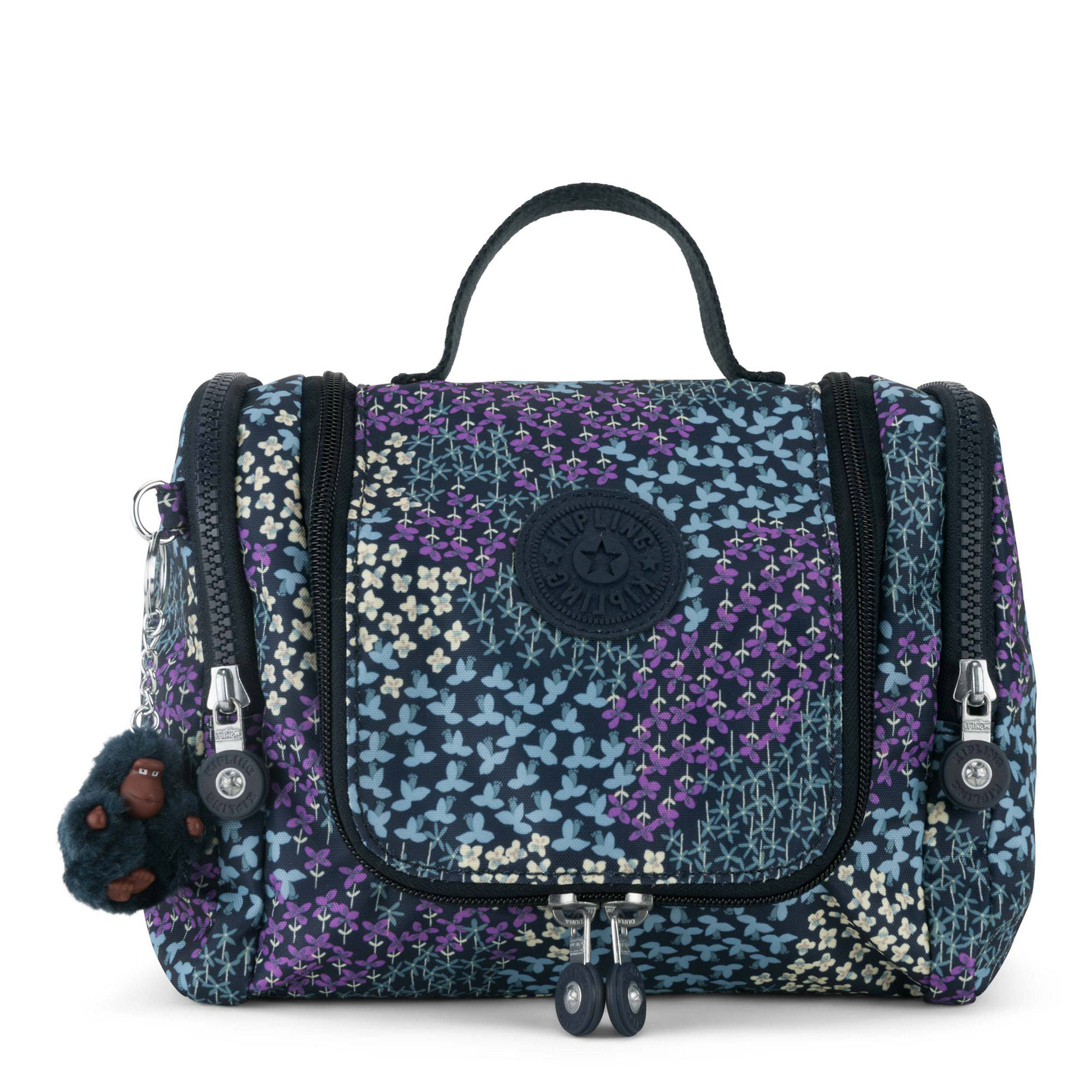 Connie Printed Hanging Toiletry Bag Dotted Bouquet Large