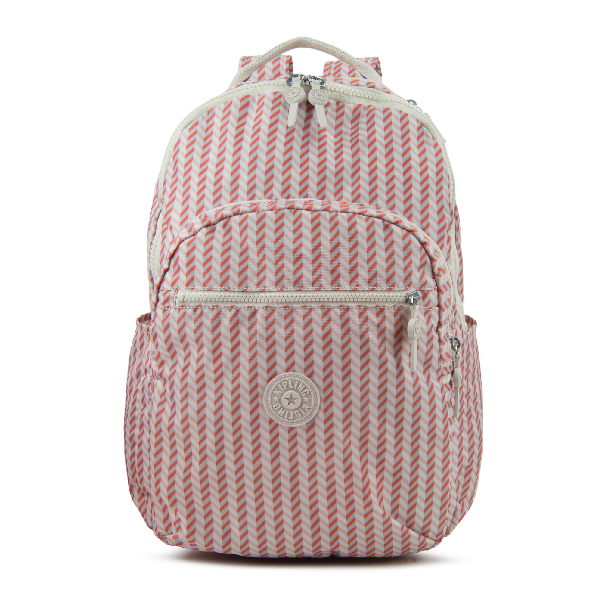 3a262a1213 Seoul Large Printed Laptop Backpack,Strawberry Pink Tonal Zipper,large
