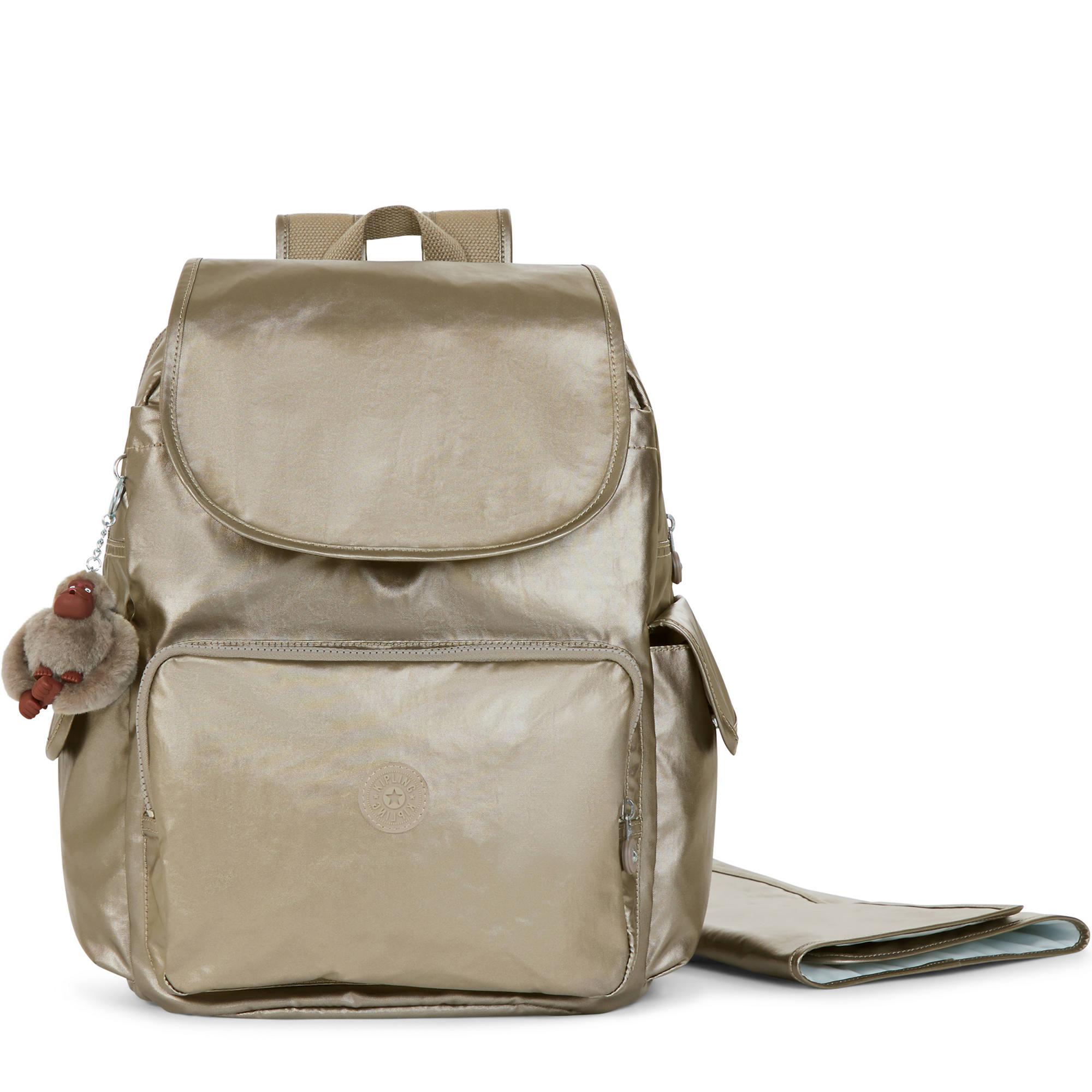 2647b4871 Zax Metallic Backpack Diaper Bag,Metallic Pewter,large