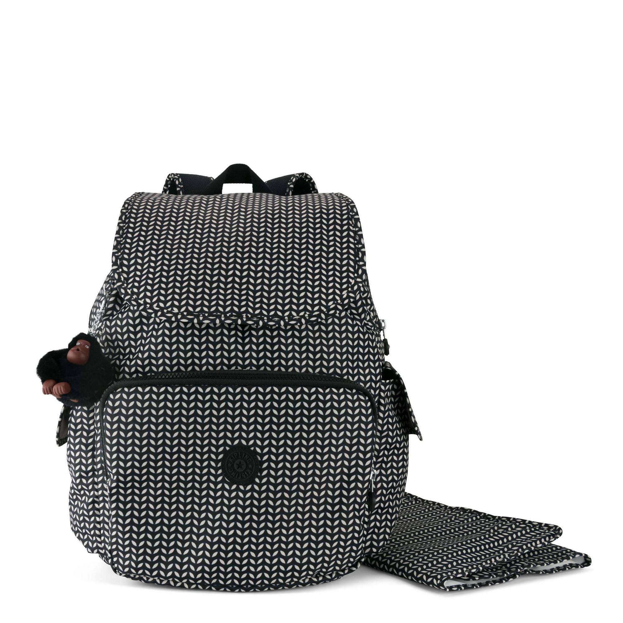 Zax Printed Backpack Diaper Bag Small Leaf Large
