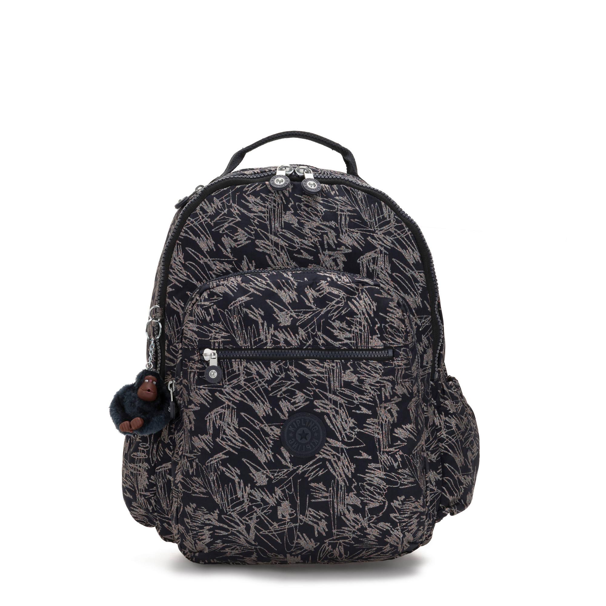 "Kipling Seoul Go Large 15/"" Laptop Backpack Lunminous Stripe"