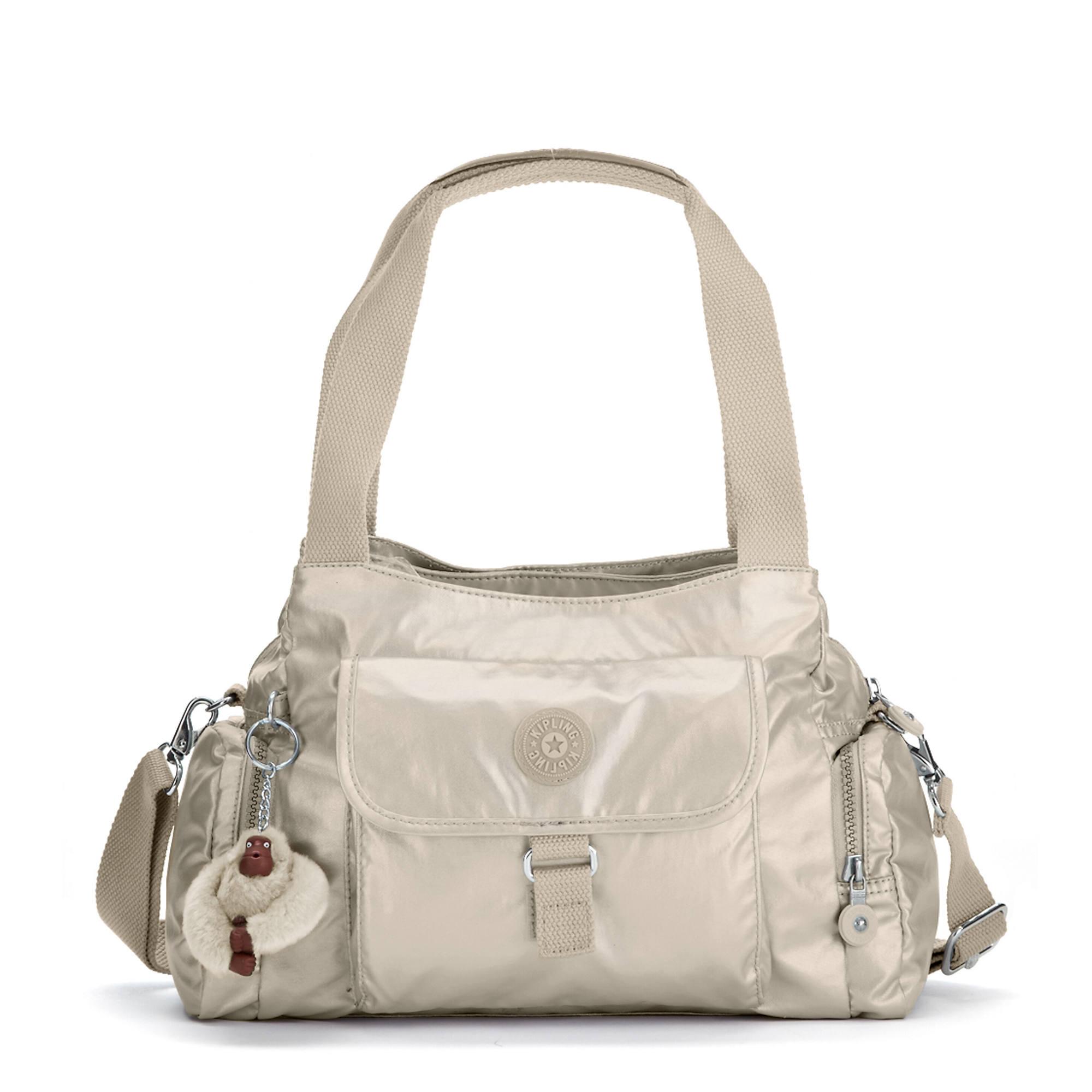Felix Large Metallic Handbag Gleaming Gold