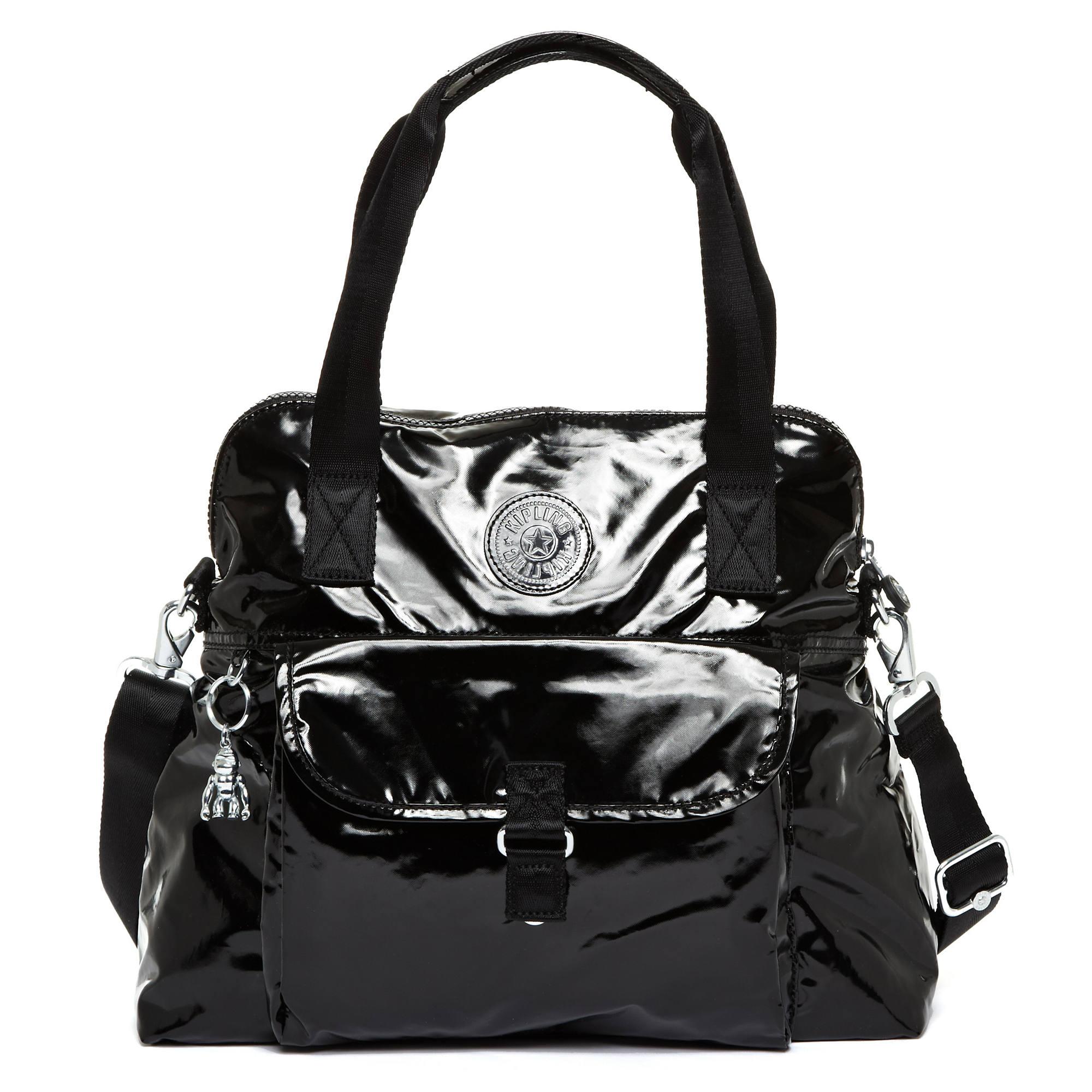 61df6e86b0 Pahneiro Patent Handbag,Black Patent,large