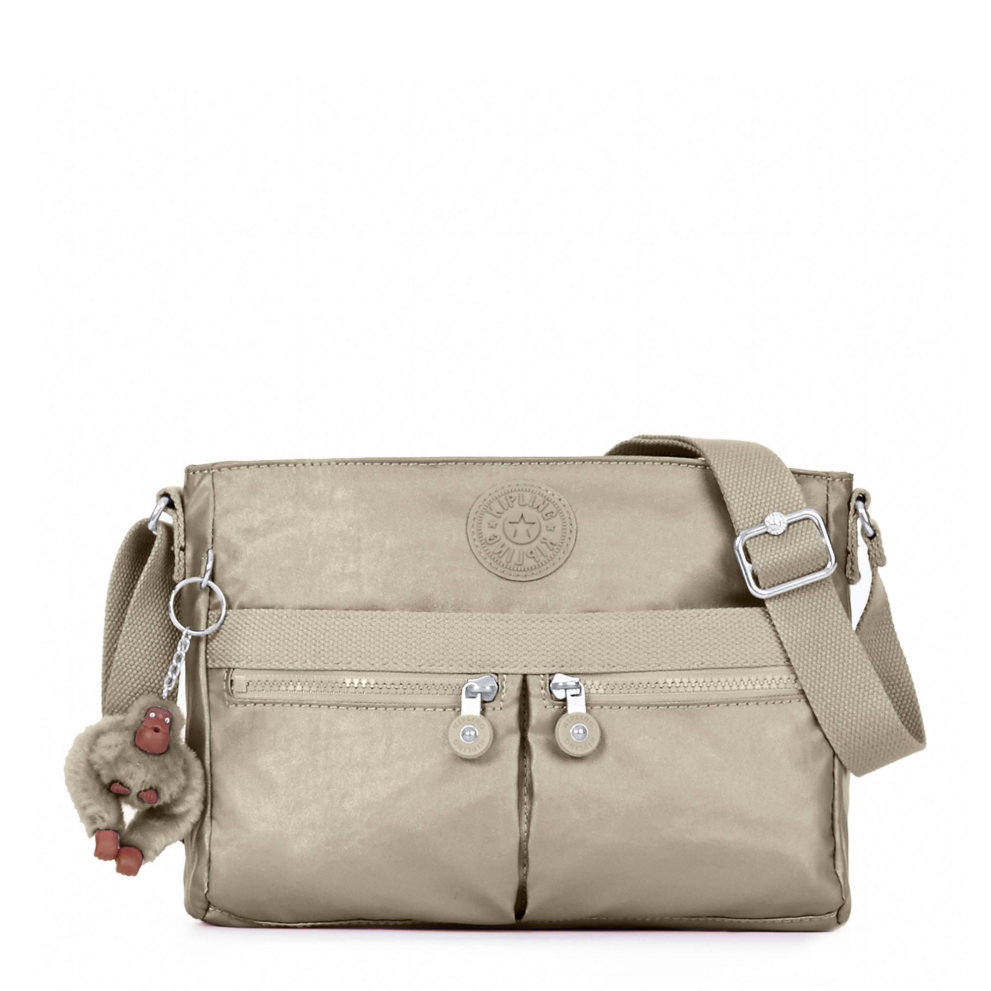 Angie Metallic Handbag Pewter Large