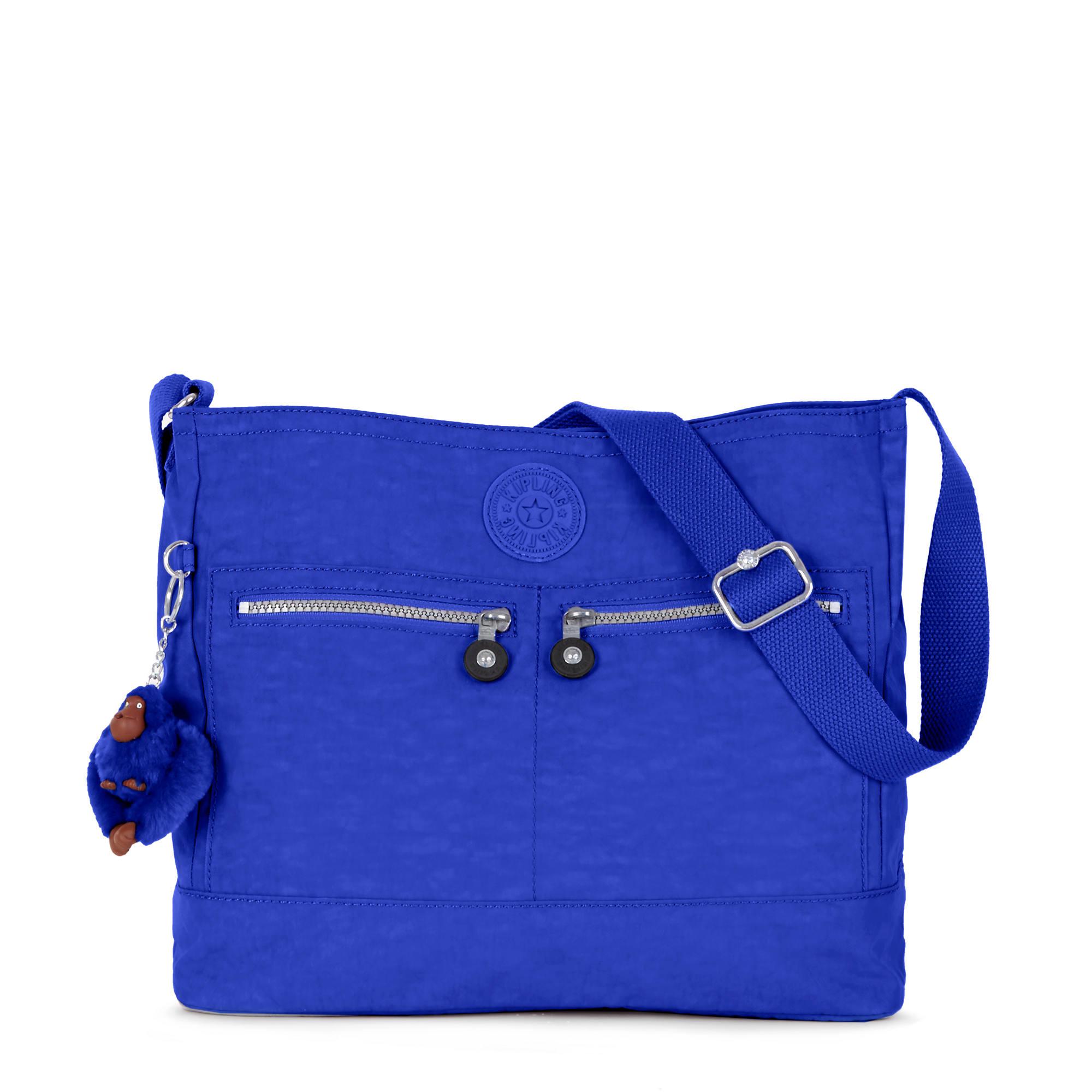 Michelle Handbag Glass Bottom Blue Large