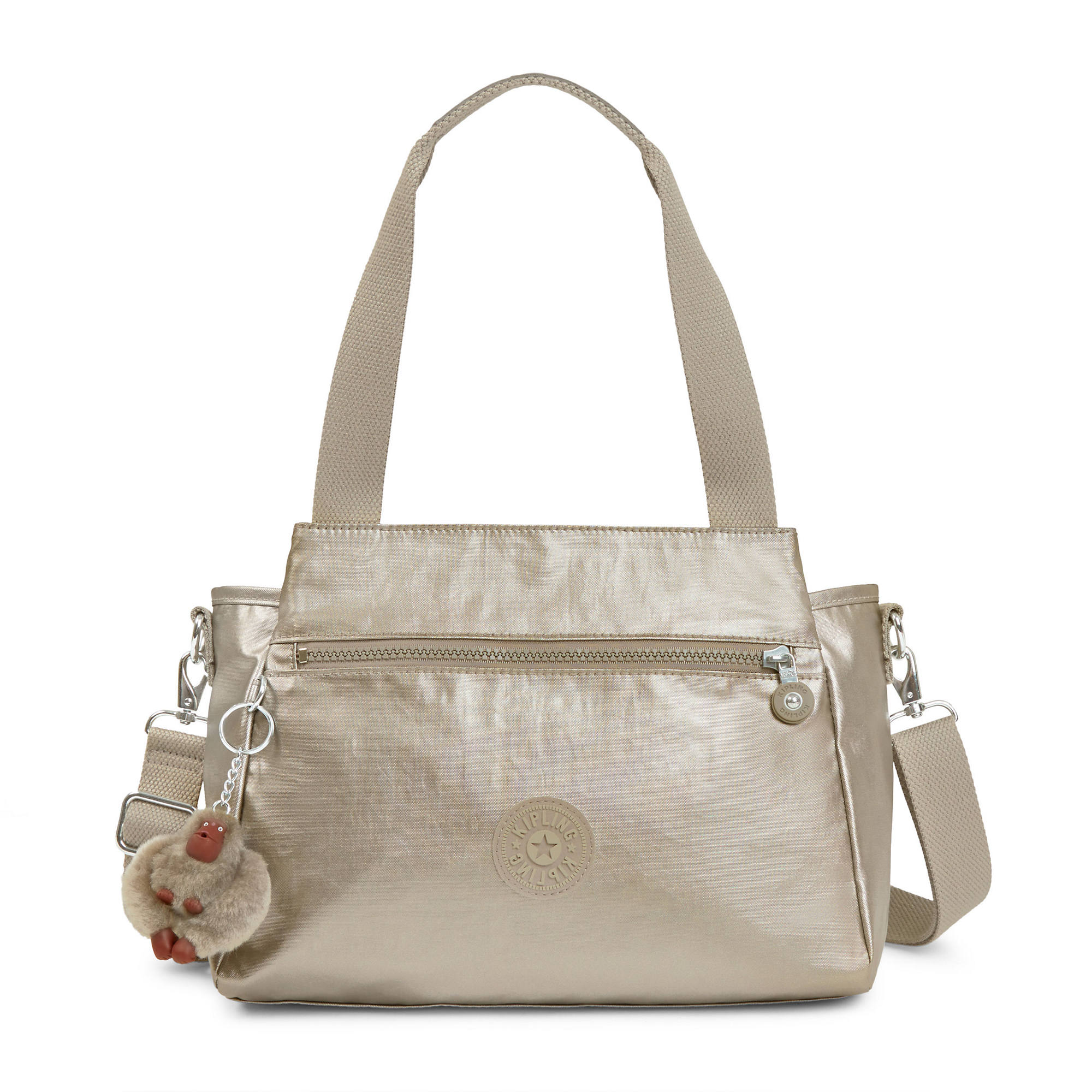Elysia Metallic Handbag Pewter Large