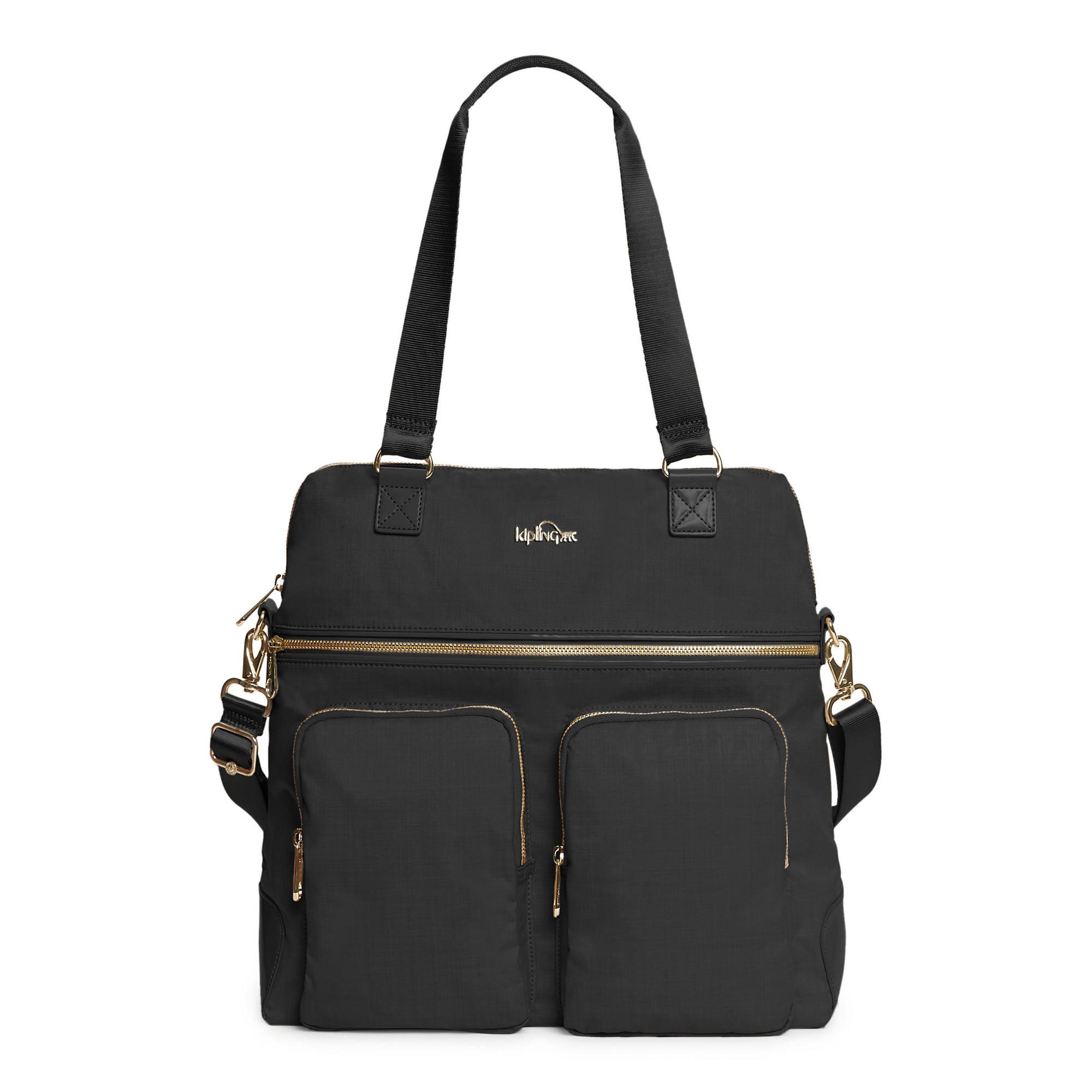 Camryn Laptop Handbag Black Crosshatch Large