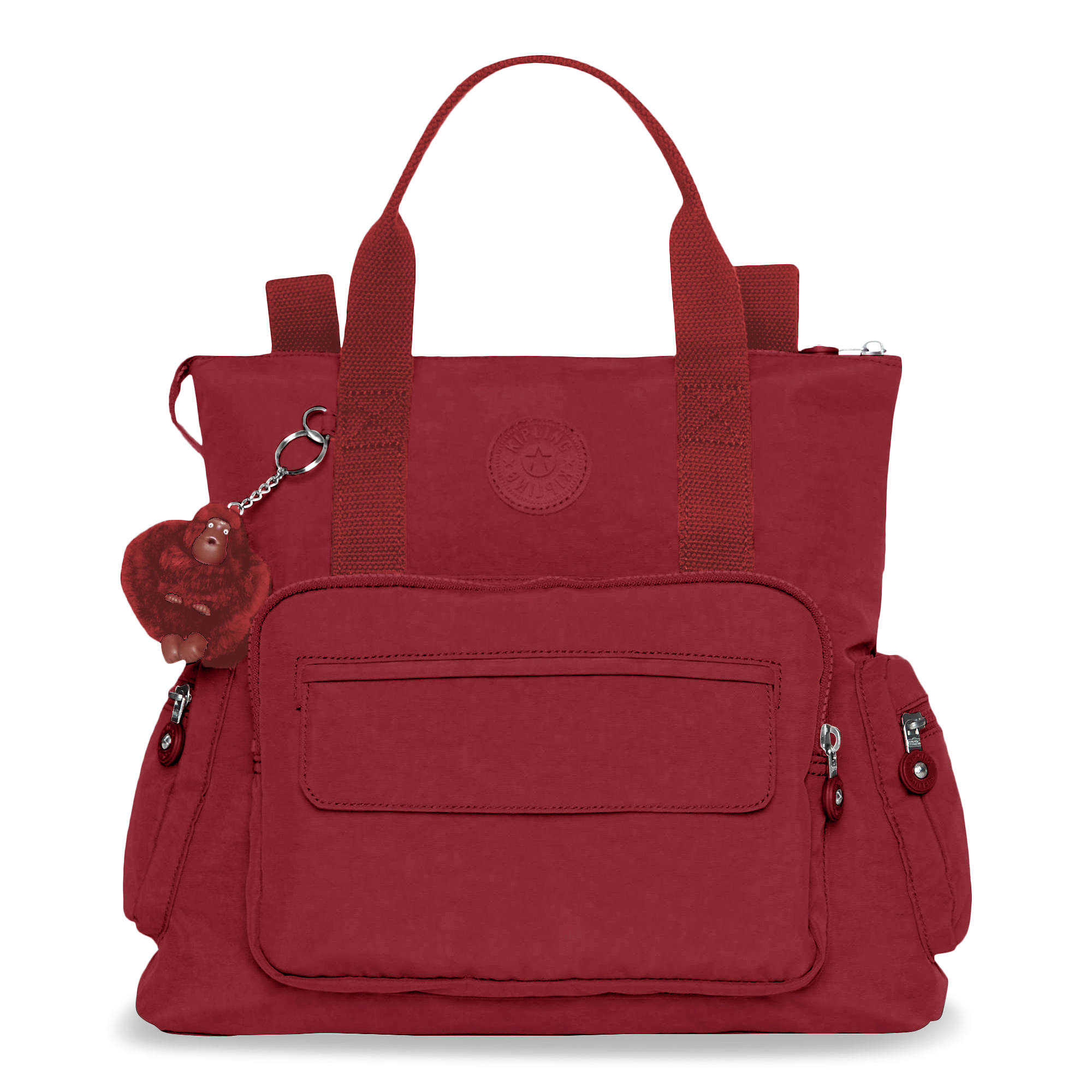 Alvy 2 In 1 Convertible Tote Bag Backpack Brick Red Large