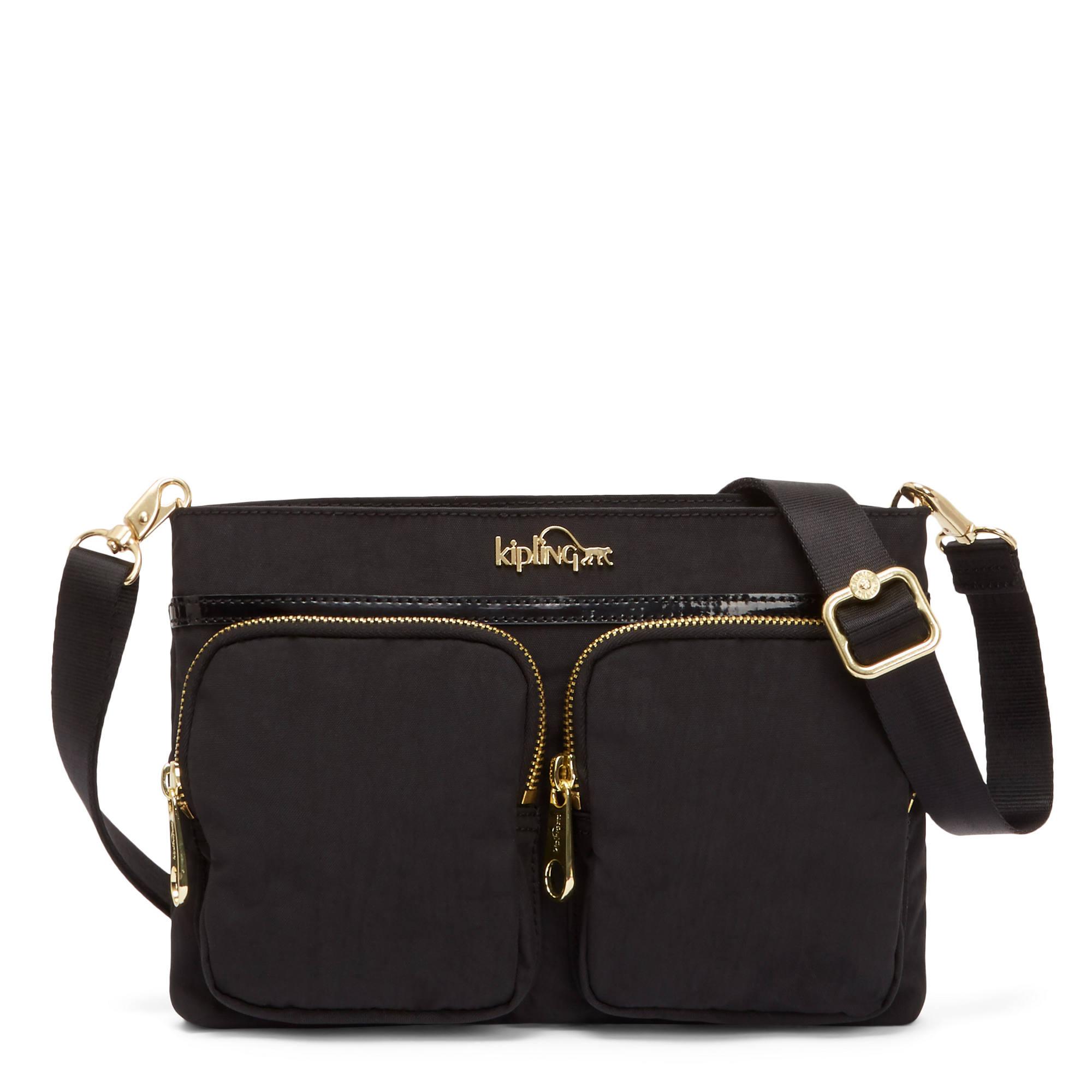 Tessa 5 In 1 Convertible Handbag Black Patent Combo Large