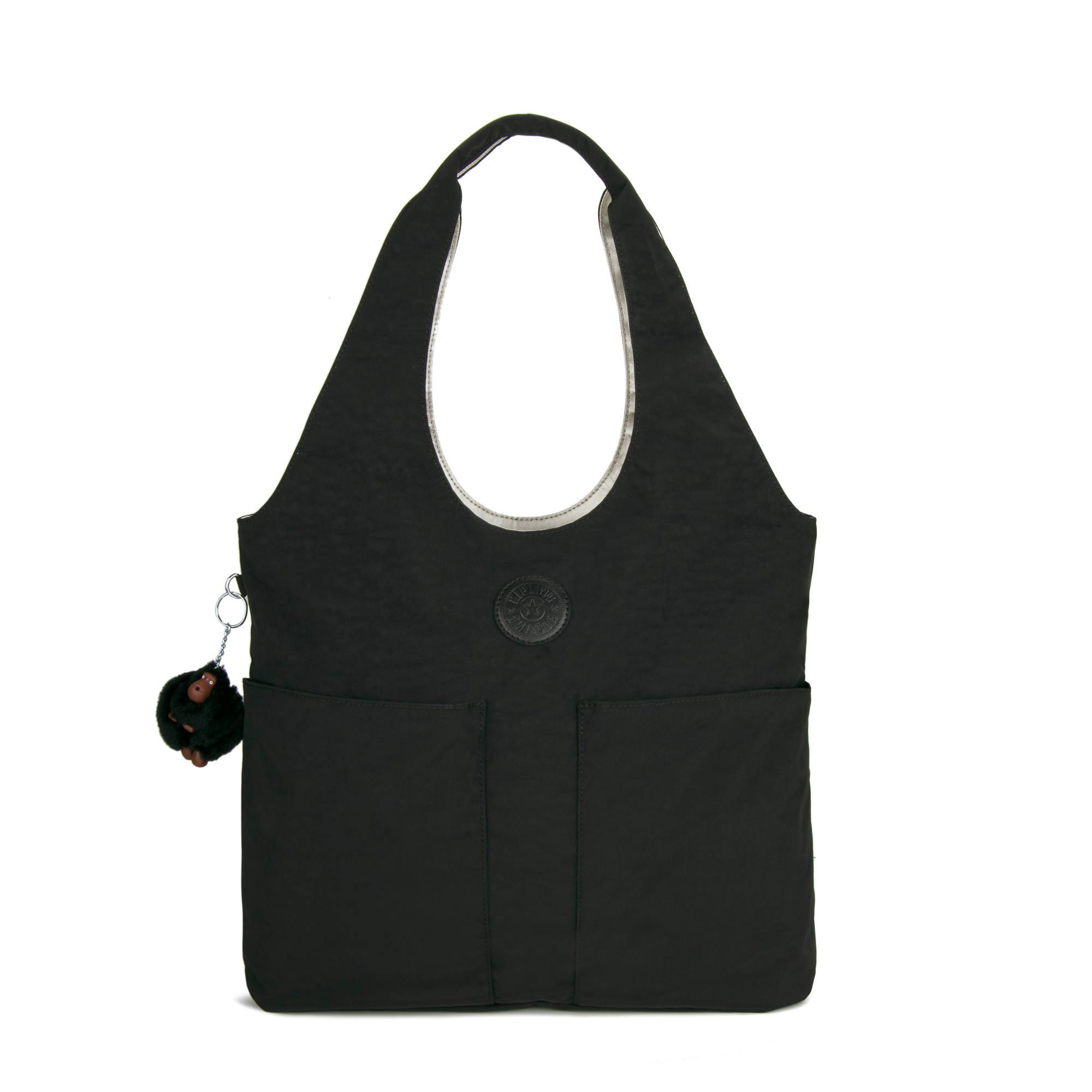 Astrid Shoulder Bag,Black Cloud Tonal Zipper,large-zoomed