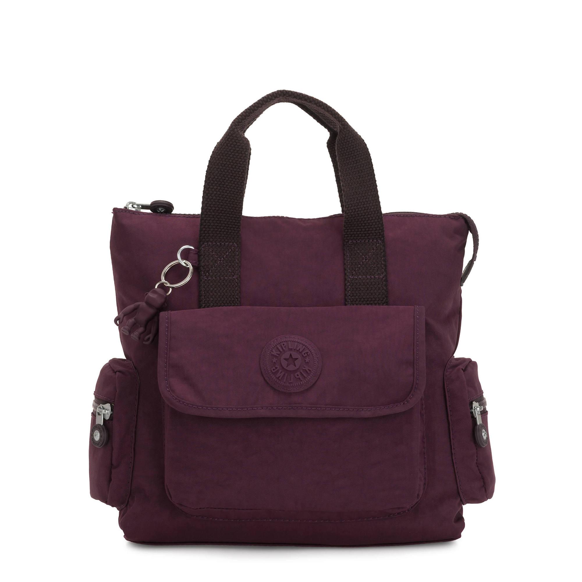 Revel Small Convertible Backpack,Dark Plum,large-zoomed
