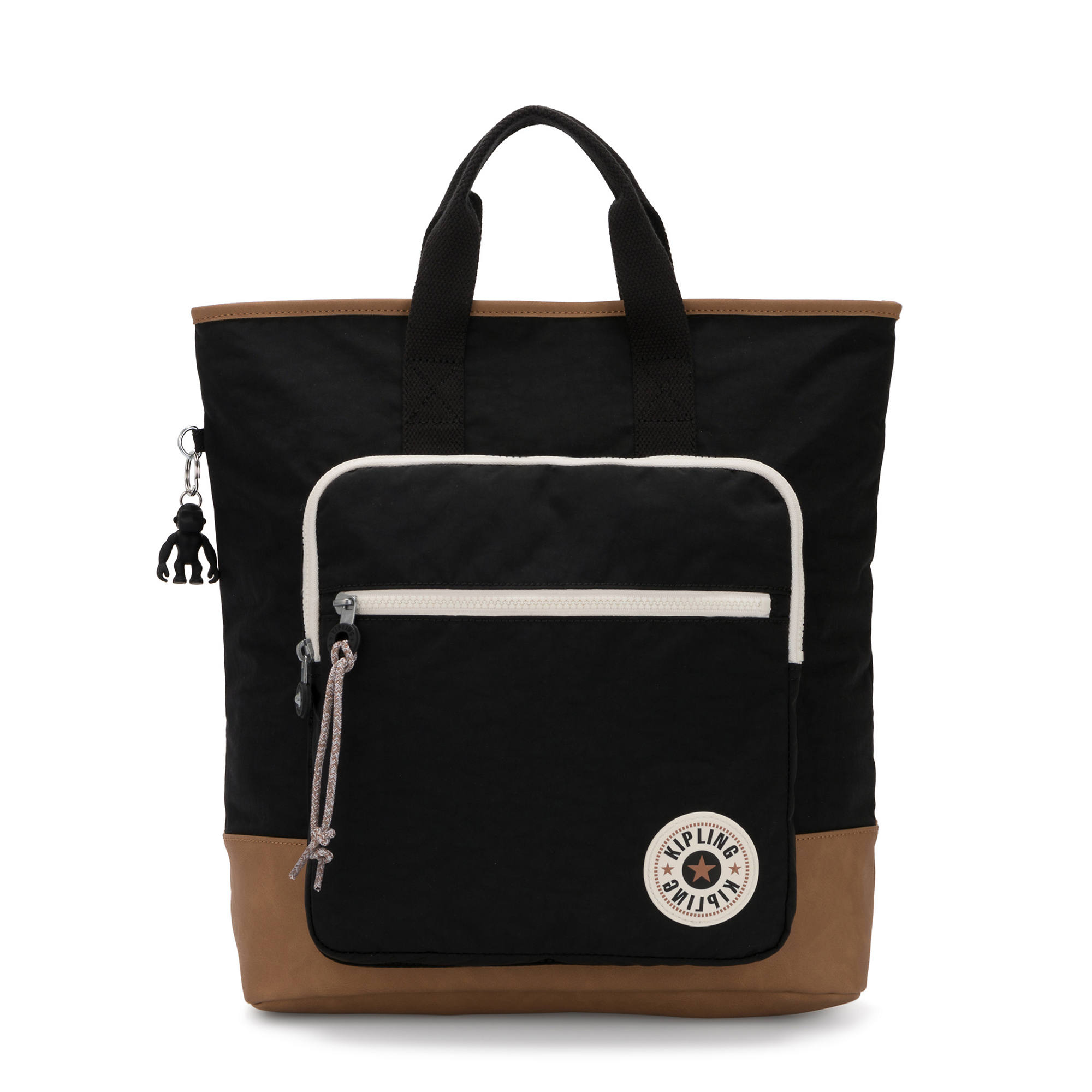 Sia Tote Backpack,Black Tan,large-zoomed