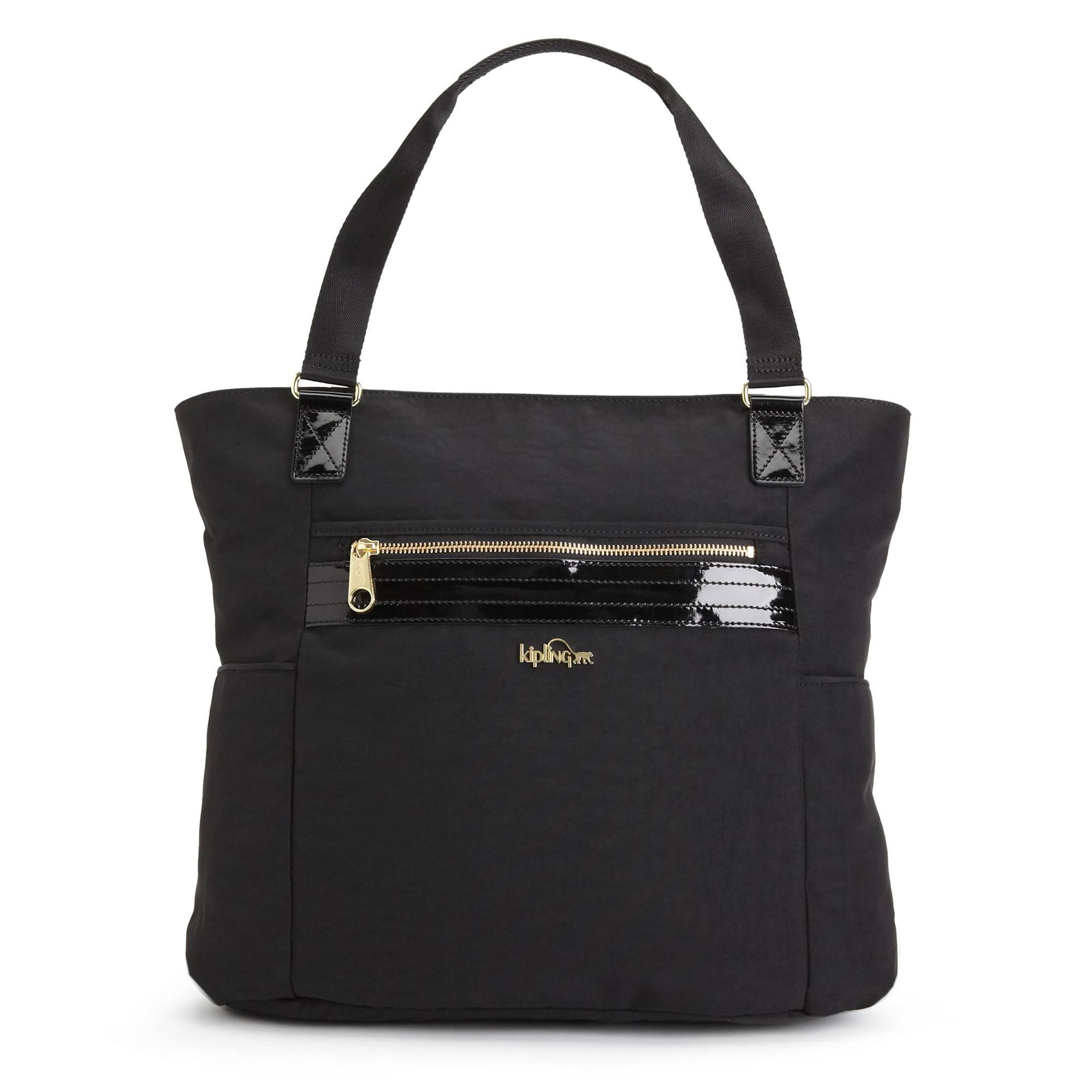 Leah Tote Bag Black Patent Combo Large