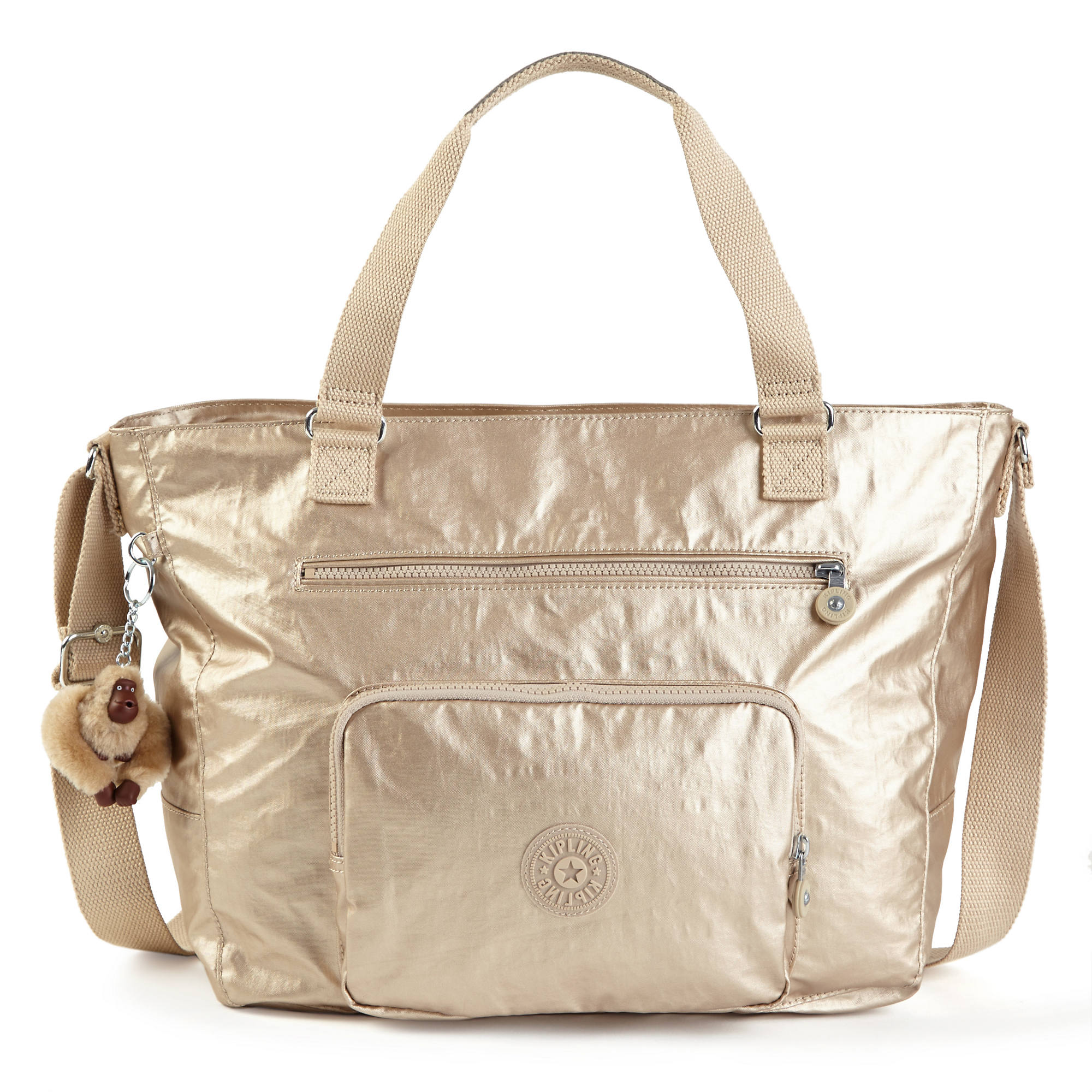 6d533b8dc Metallic Maxwell Tote Bag,Toasty Gold,large