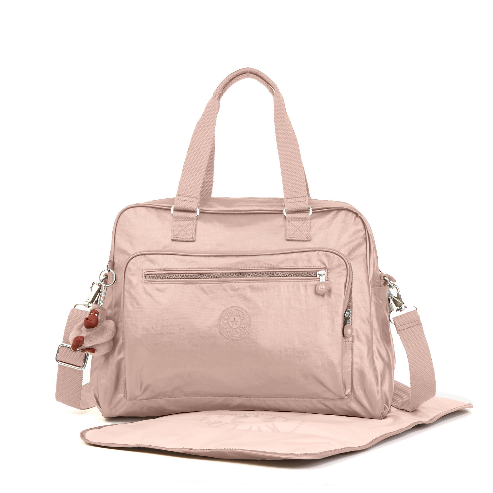 Alanna Metallic Diaper Bag Rose Gold Large