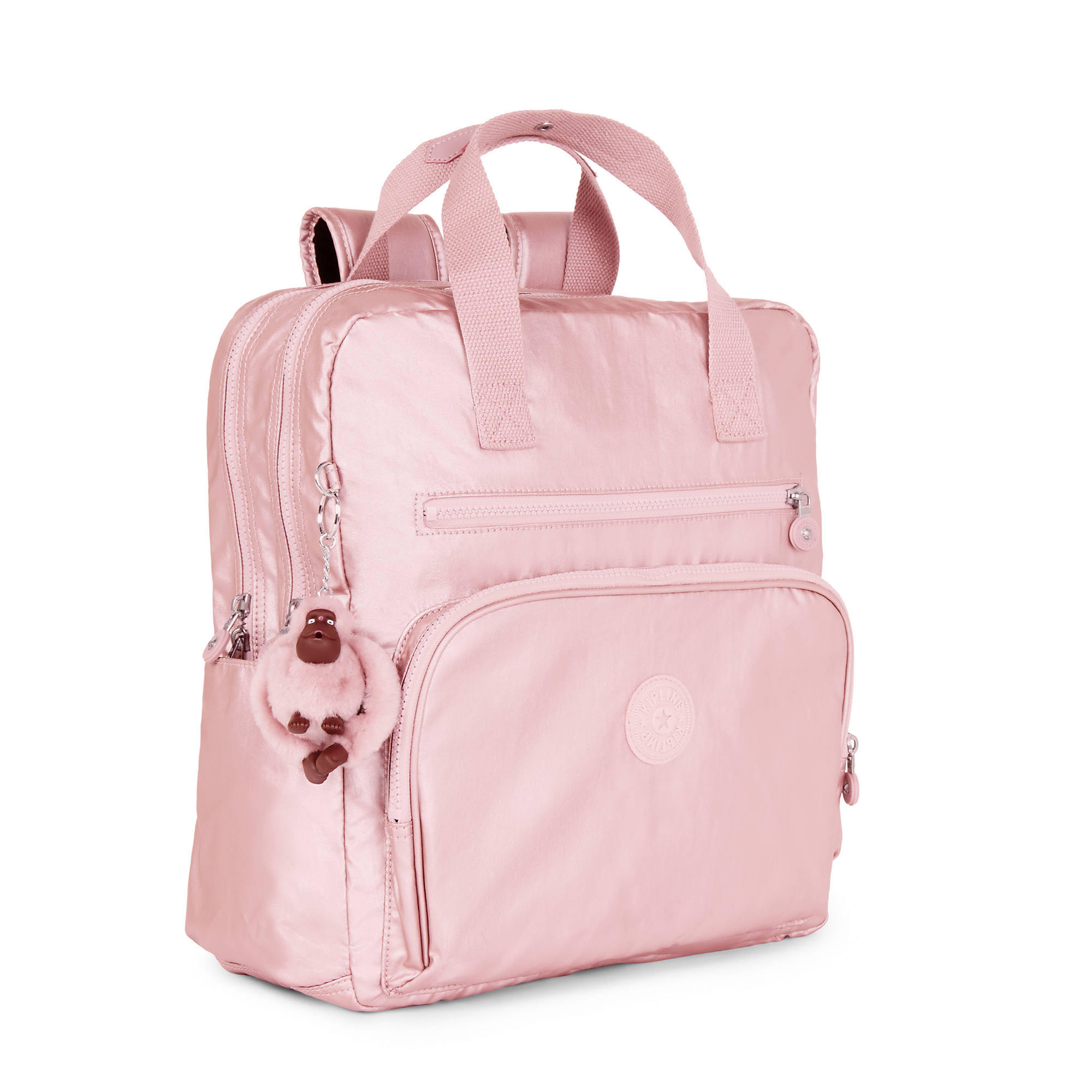 Audrie Metallic Diaper Bag Icy Rose Large
