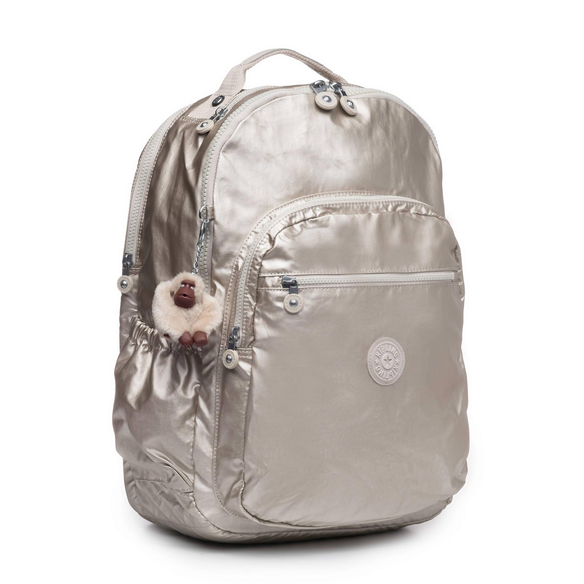 3547d4e0c Seoul Go Extra Large Metallic Laptop Backpack,Cloud Grey Metallic,large