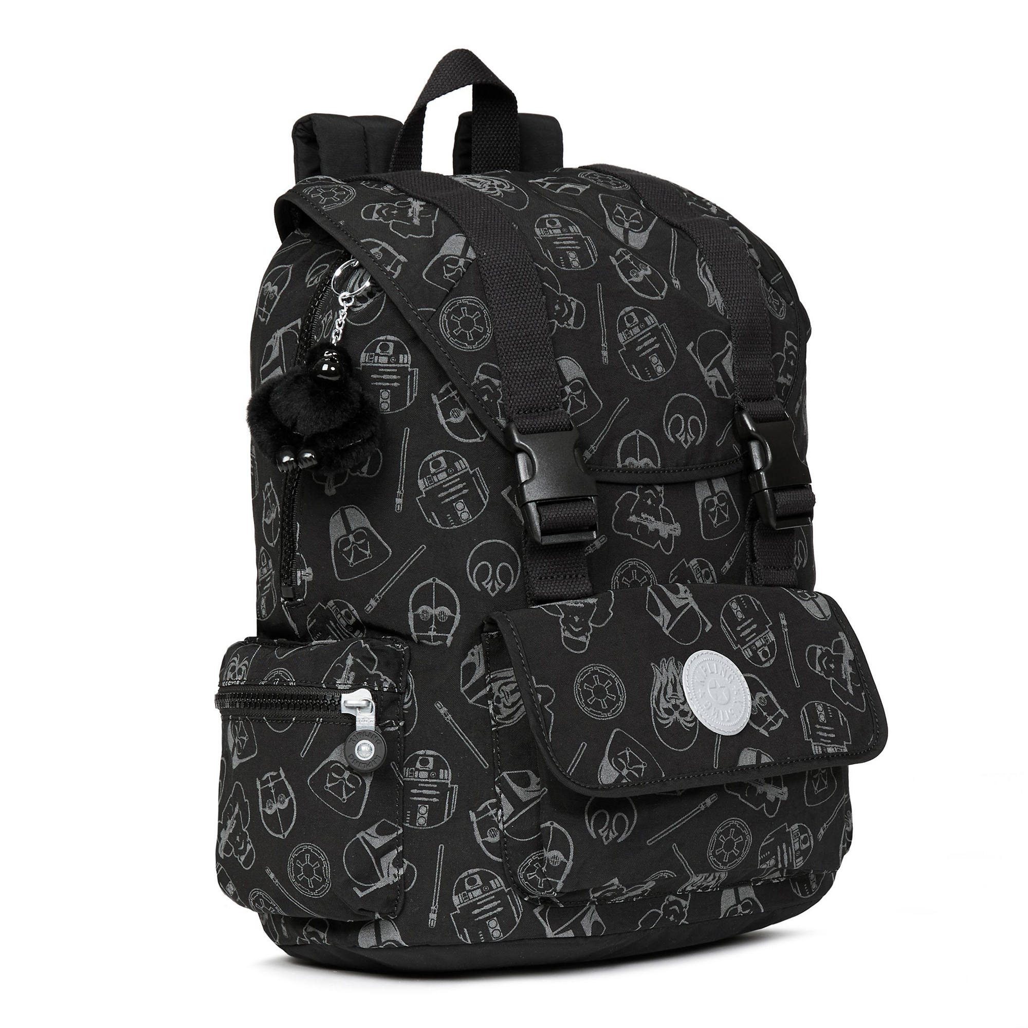 Star Wars Siggy Printed Large Reflective Laptop Backpack Galaxy Far Away