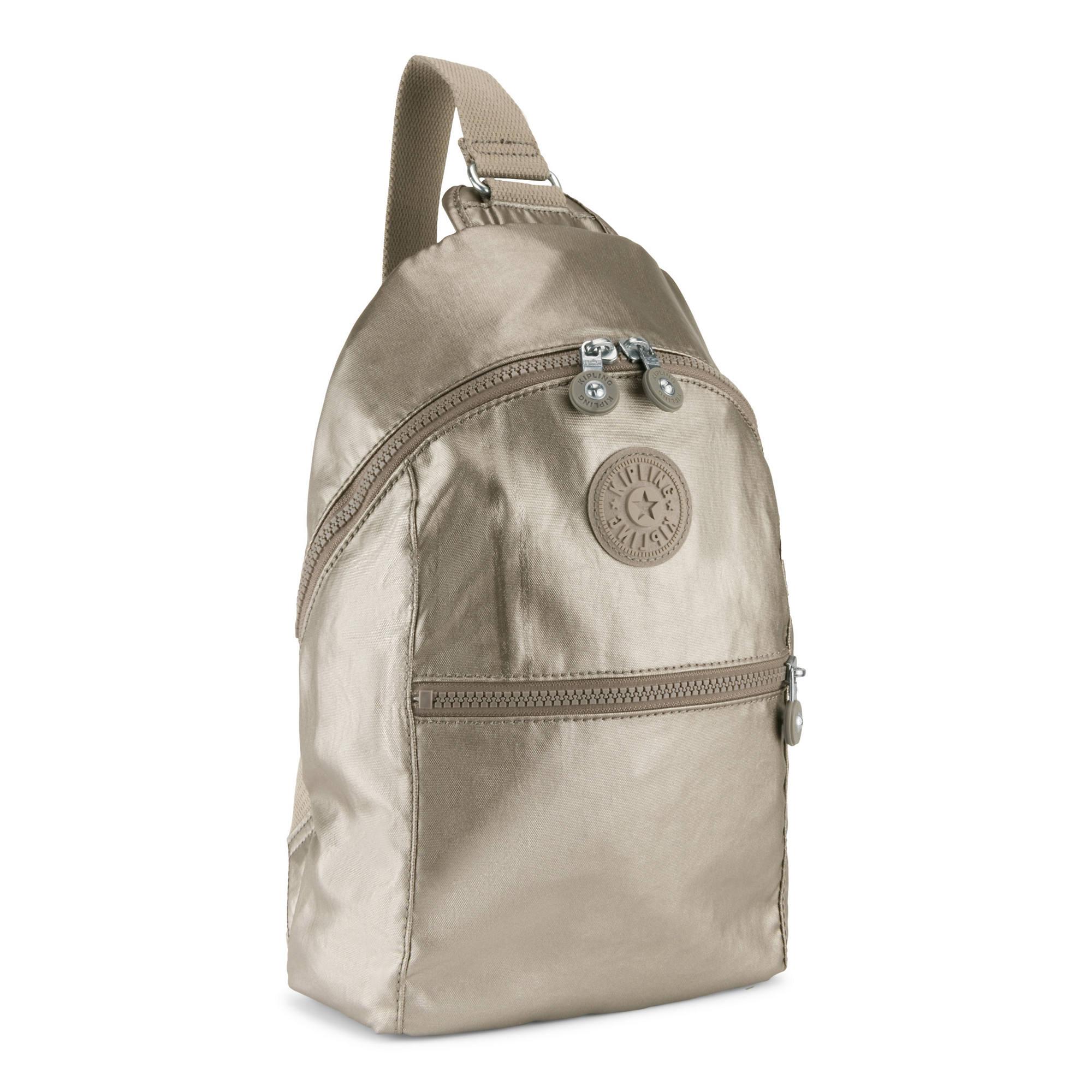 ba434c6899 Bente Metallic Sling Backpack,Metallic Pewter,large
