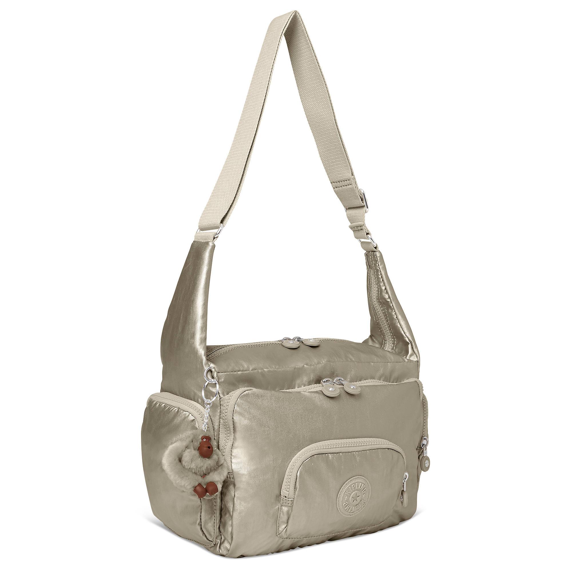 Erica Metallic Handbag Pewter Large