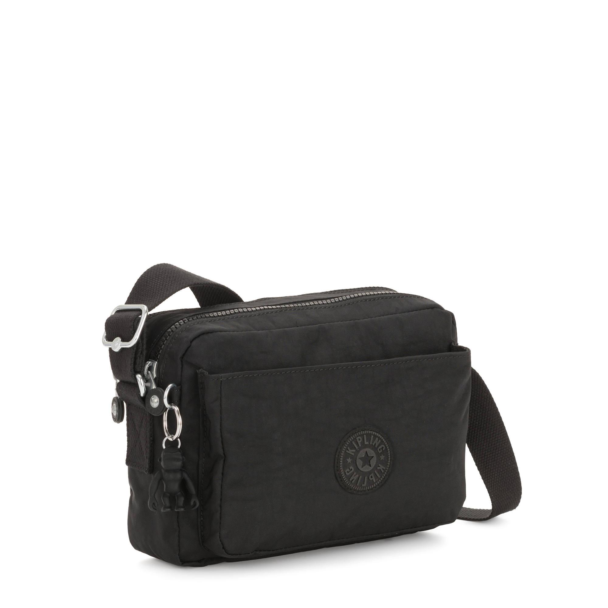 Details about Kipling Abanu Medium Crossbody Bag Black Noir