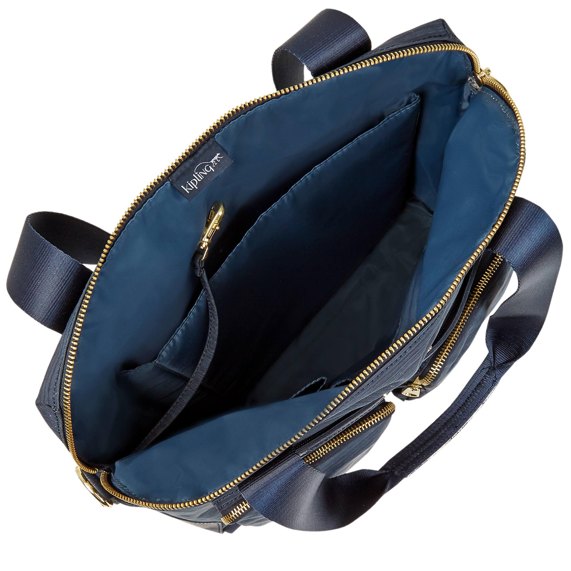 b40993abd43 Kipling HB6747 Camryn True Dazz Navy Laptop Bag Tote Handbag for ...