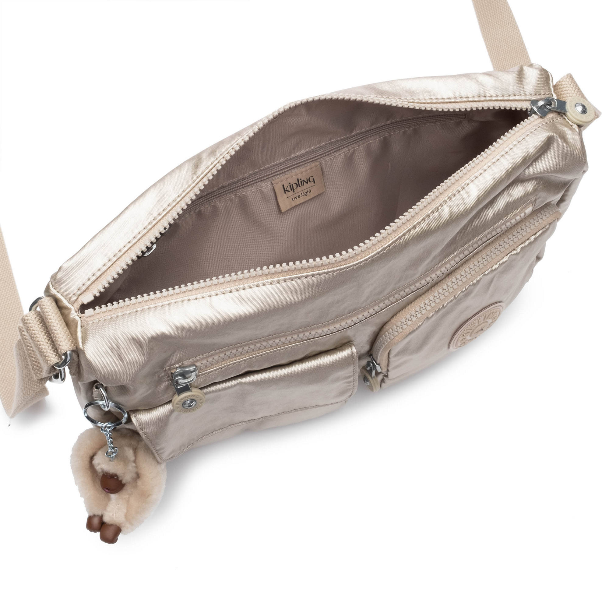Jean Crossbody Bag,Gleaming Gold Metallic,large-zoomed