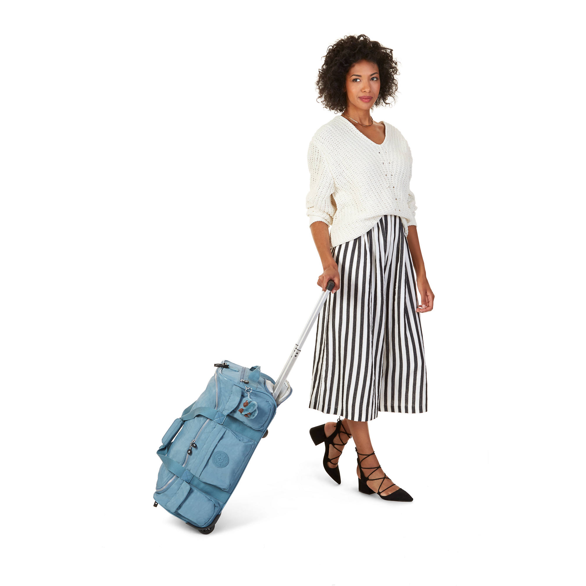 481cce9bbec Discover Small Printed Wheeled Duffel Bag,Hello Weekend,large