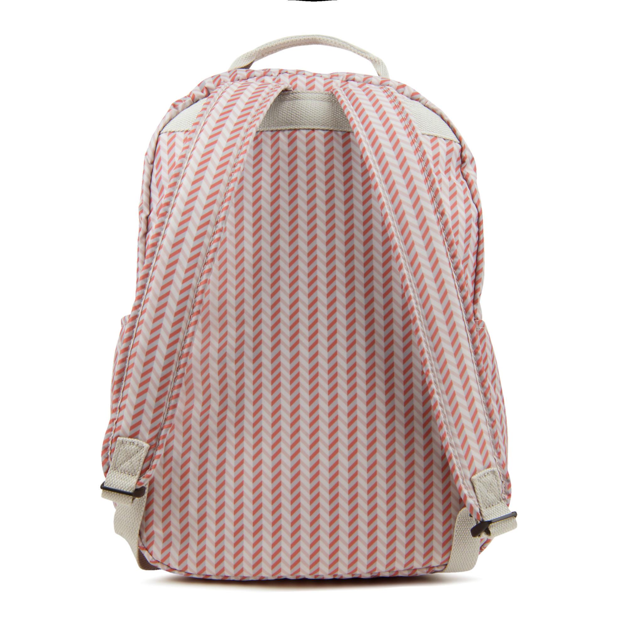 f2add4c3e99 Seoul Large Printed Laptop Backpack,Strawberry Pink Tonal Zipper,large