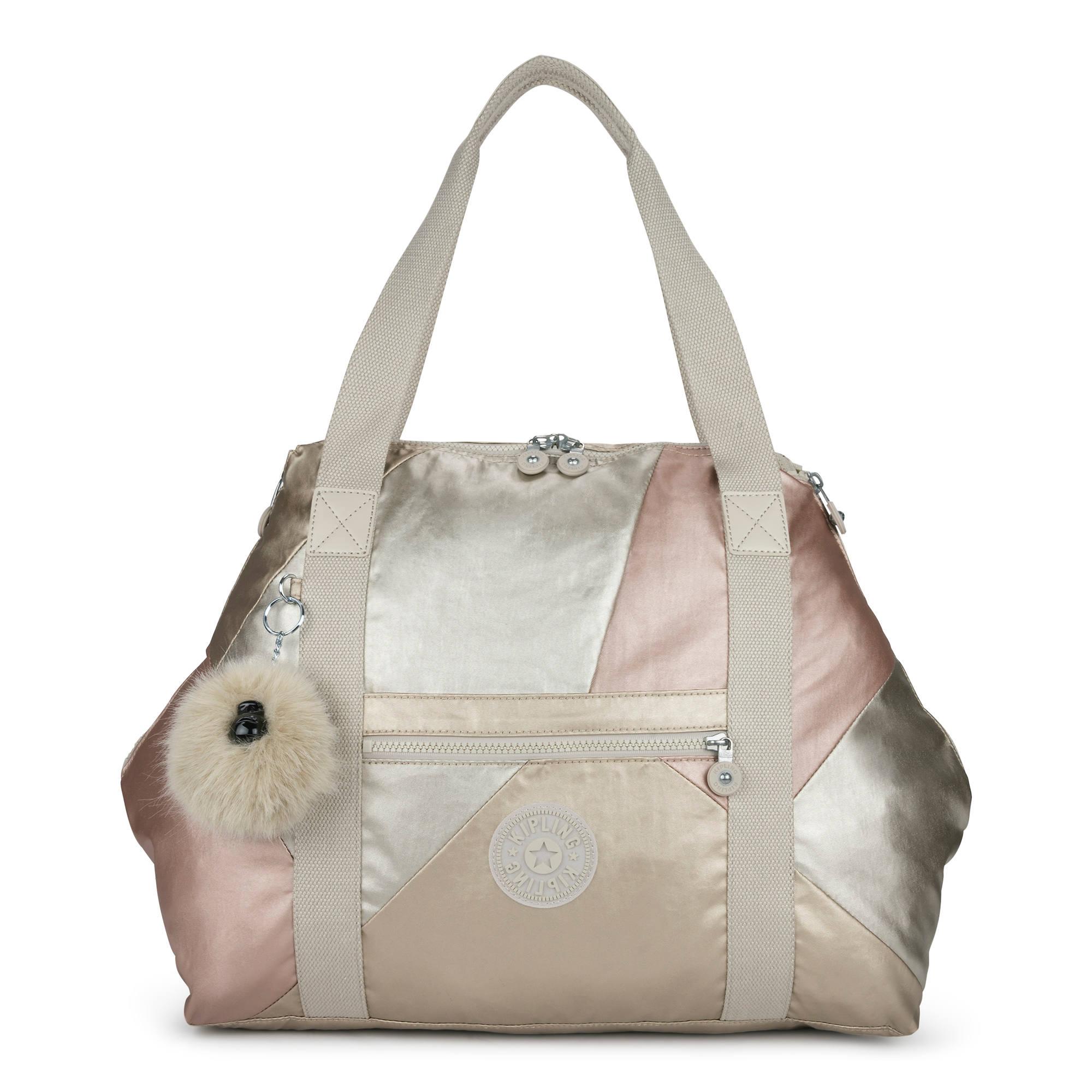 3d3af3e10e0a Art Medium Color Blocked Metallic Tote Bag