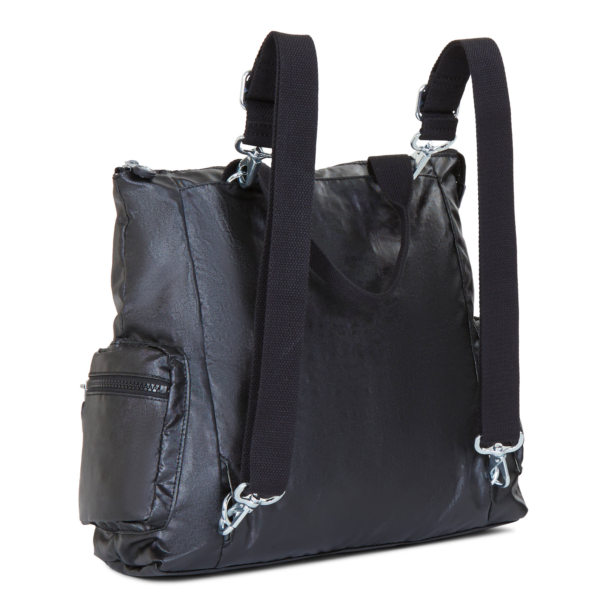 Alvy 2 In 1 Convertible Tote Bag Backpack Lacquer Black Large