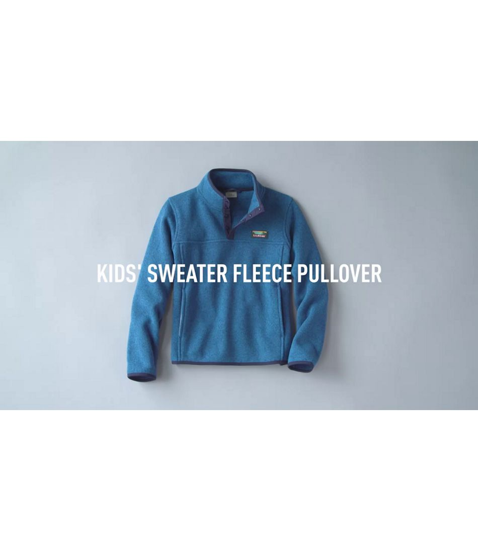 Video: Kids Pullover Sweater Fleece