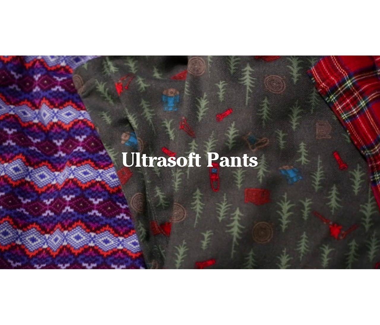 Video: Kids LLBean Flannel PJs Tee and Pants Set