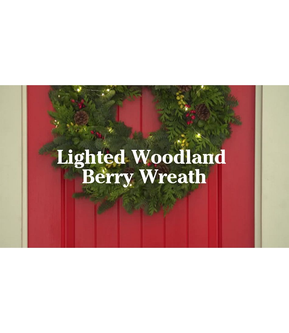Video: WOODLAND BERRY LIGHTED WREATH