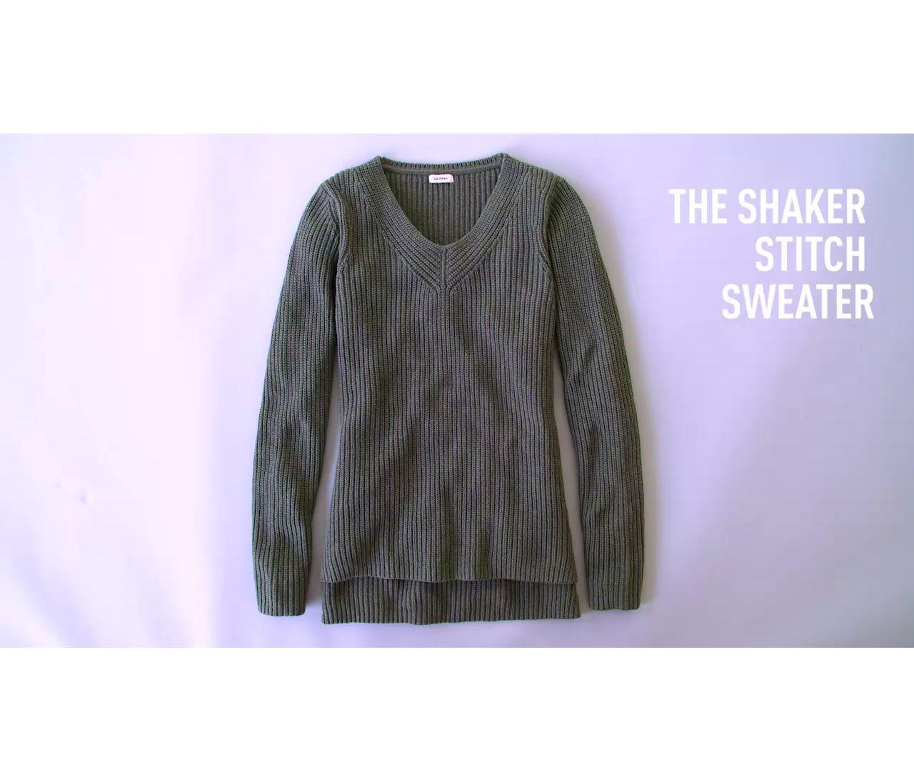 Video: Shaker Stitch Sweater